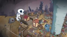 Battling from the other side of the dungeon in Skelattack, out today