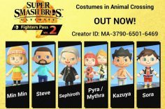 Smash Bros. Comes to Town With AC:NH Fan's Recreation of Fighters