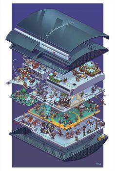 Fan Art Displays Iconic PlayStation Games in a Fun Exploded PS3 Display
